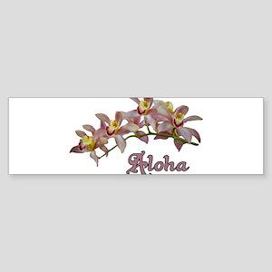 Aloha Flowers Bumper Sticker