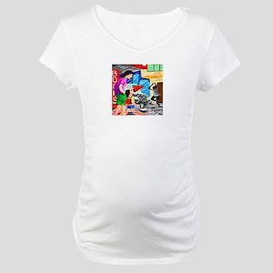 raining on the street Maternity T-Shirt