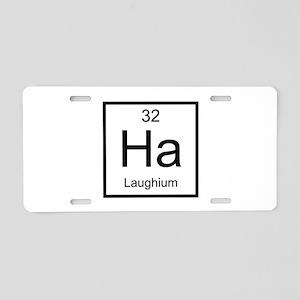 Ha Laughium Element Aluminum License Plate