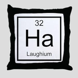 Ha Laughium Element Throw Pillow