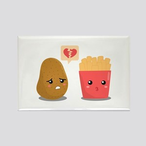 Potato is Heart Broken with French Fries Rectangle