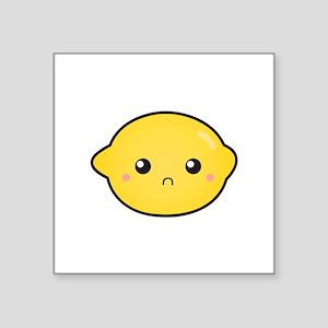 Kawaii Lemon with a sour expression Sticker