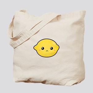 Kawaii Lemon with a sour expression Tote Bag
