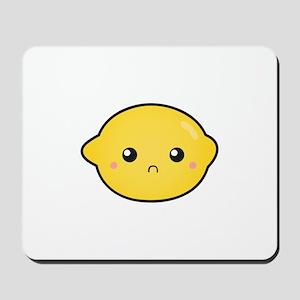 Kawaii Lemon with a sour expression Mousepad