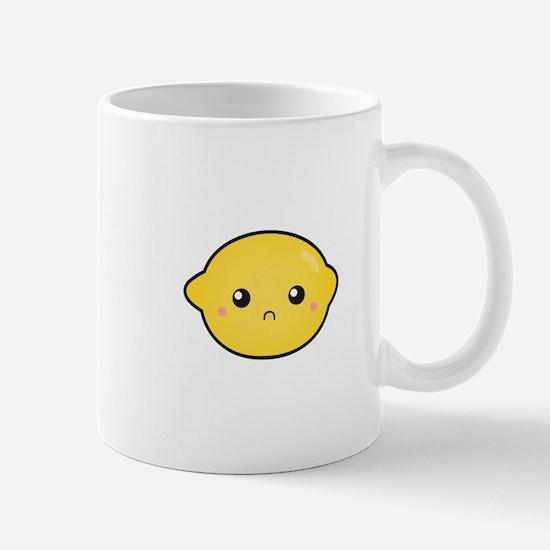 Kawaii Lemon with a sour expression Mug