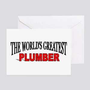 """""""The World's Greatest Plumber"""" Greeting Cards (Pac"""
