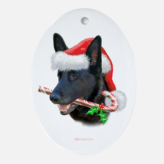 German Shepherd Christmas Oval Ornament