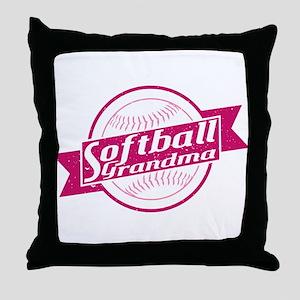 Softball Grandma Throw Pillow