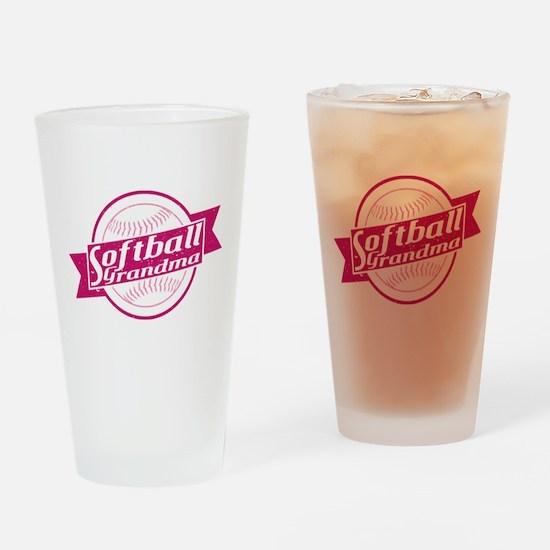 Softball Grandma Drinking Glass