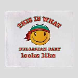 Bulgaria baby designs Throw Blanket