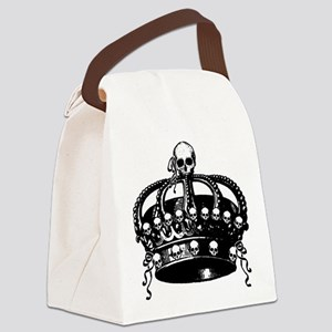 Gothic Skull Crown Canvas Lunch Bag