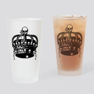 Gothic Skull Crown Drinking Glass