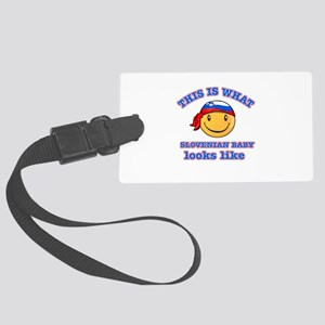 Slovenia baby designs Large Luggage Tag