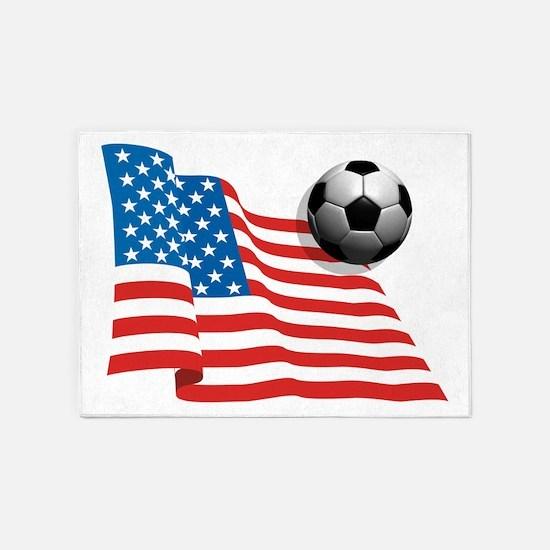 U.S. Soccer Flag 5'x7'Area Rug