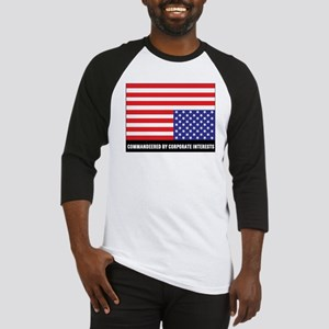 upside-down-flag2black Baseball Jersey
