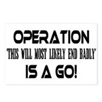 Operation This will end badly Postcards (Package o