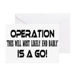Operation This will end badly Greeting Cards (Pack