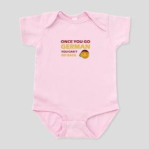 Funny German flag designs Infant Bodysuit