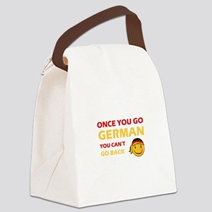 Funny German flag designs Canvas Lunch Bag