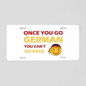 Funny German flag designs Aluminum License Plate