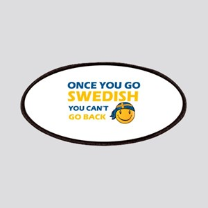 Funny Swedish flag designs Patches