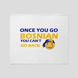 Funny Bosnian flag designs Throw Blanket