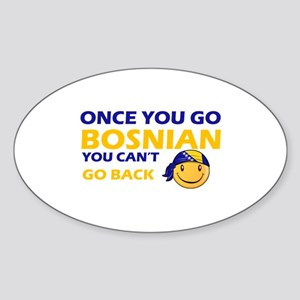 Funny Bosnian flag designs Sticker (Oval)