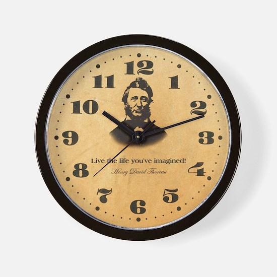 Thoreau - Live the life Wall Clock