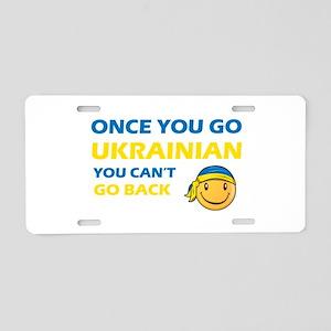 Funny Ukrainian flag designs Aluminum License Plat