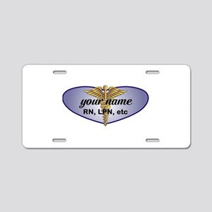 Personalized Nurse Aluminum License Plate
