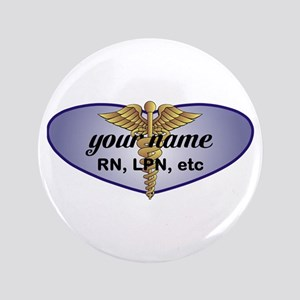 "Personalized Nurse 3.5"" Button"