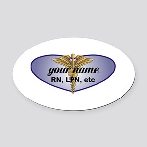Personalized Nurse Oval Car Magnet