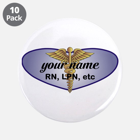 """Personalized Nurse 3.5"""" Button (10 pack)"""
