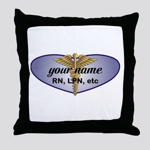 Personalized Nurse Throw Pillow