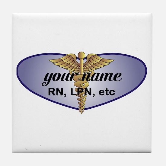 Personalized Nurse Tile Coaster