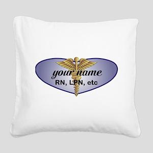 Personalized Nurse Square Canvas Pillow