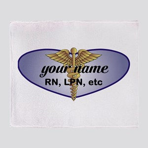 Personalized Nurse Throw Blanket