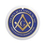 Golden Rule Lodge Ornament (Round)