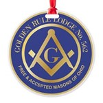 Golden Rule Lodge Round Ornament