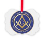 Golden Rule Lodge Picture Ornament