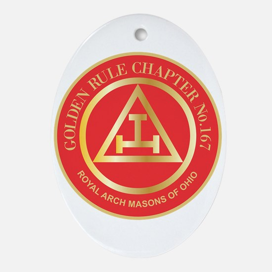 Golden Rule Chapter Ornament (Oval)
