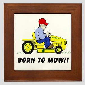Born To Mow Framed Tile