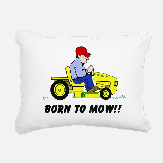 Born To Mow Rectangular Canvas Pillow