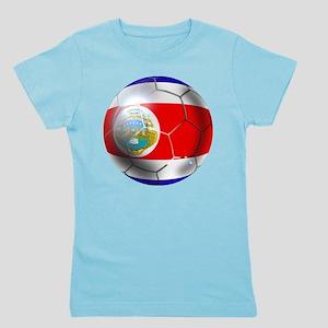 Costa Rica Soccer Ball Girl's Tee