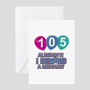 105 year old ballon designs Greeting Card