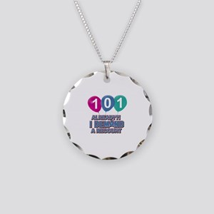 101 year old ballon designs Necklace Circle Charm