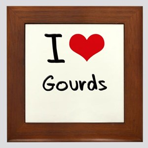 I Love Gourds Framed Tile