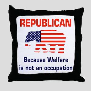 welfareoccupation Throw Pillow