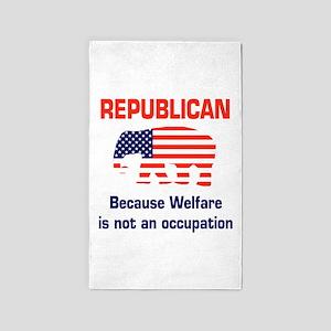 welfareoccupation 3'x5' Area Rug