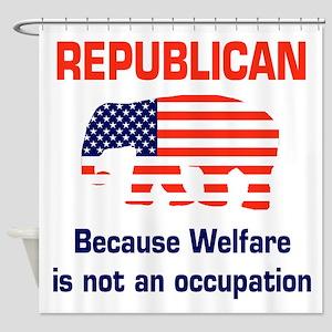 welfareoccupation Shower Curtain
